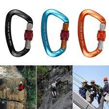 <b>25KN Professional</b> Climbing Carabiner D Shape Climbing Buckle ...