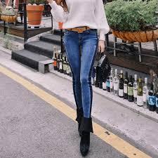 2019 <b>Dabuwawa Spring</b> Women <b>Vintage</b> Jeans High Street Denim ...