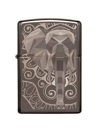 <b>Зажигалка Elephant</b> Fancy Fill Design с покрытием Black Ice Zippo ...