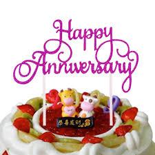 <b>20pc</b>/lot <b>Cake Toppers Flags</b> Anniversary Glitter <b>Cupcake Topper</b> ...