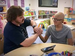 jack black brings laughs and smiles to children while volunteering children s hospital los angeles