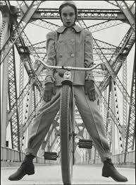 hermann landshoff model beth wilson at rip van winkle bridge art model beth wilson at rip van winkle bridge spanning the hudson river