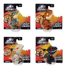 <b>Mattel Jurassic World</b> Snap Squad Mini Figures Set of 4 (Wave 1 ...