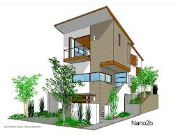 Modern  Affordable  story Residential Designs    The House DesignersNANO  B FRONT P THD