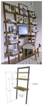 diy desk made with all boards small space office ana white build a leaning wall ladder desk free and easy diy project and furniture plans building bathroomcute diy office homemade desk plans furniture