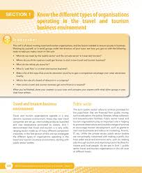 travel tourism publishing unit 2 the business of travel and jobs through tourism and improving tourist facilities for ors and local people as we saw in unit 1 public sector travel and tourism organisations in