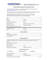 merchandise return form template return merchandise authorization form return authorization form template return merchandise