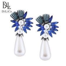 <b>DiLiCa Elegant Women</b> Imitation Pearl Water Drop Dangle Earrings ...