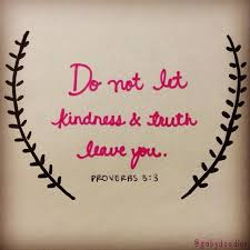 Do not let kindness and truth leave you; bind them around your ...