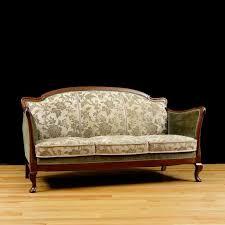 post art deco upholstered sofa frame in cuban mahogany circa 1930 2 art deco mahogany framed office chair
