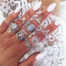 <b>8Pcs</b>/Set Vintage <b>Women Gold</b> Silver Boho Midi Finger Knuckle ...