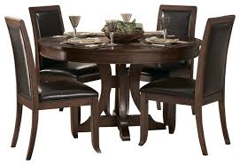 seven piece dining set: homelegance avalon  piece round pedestal dining room set with china traditional dining sets