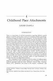 childhood place attachments springer inside