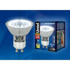 <b>Лампа</b> светодиодная (04008) <b>Uniel GU10 1</b>,<b>2W</b> 6000-6400K ...