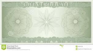 gift certificate template spa gift certificate beleg geschenkgutschein kupon geld lizenzfreie stockbilder bild