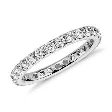Riviera Pavé Diamond Eternity Ring in <b>14k White Gold</b> (<b>1 ct</b>. tw ...