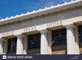 stock photo the public trust office building art deco architecture in napier new zealand art deco office building