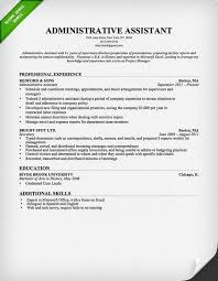 administrative assistant resume sample advertising assistant resume