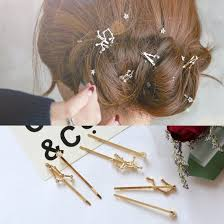 Korean Popular <b>Water Drill</b> Constellation Hairpin Golden <b>Inlaid</b> ...