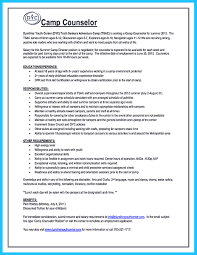 resume description of camp counselor related post of resume description of camp counselor