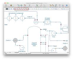 creating a create a chemical process flow diagram   conceptdraw    design chemical process flow diagram