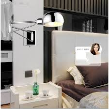 wholesale free shipping bedroom modern wall lamp swing arm wall sconce bedside wall lighting reading bedroom modern lighting