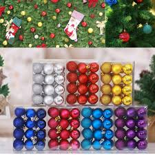 <b>24PCS 4cm</b> Christmas Balls <b>Christmas Tree</b> Decorations Xmas ...