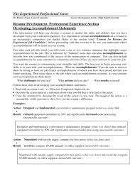 cover letter achievements in resume examples achievements in achievements for resume examples