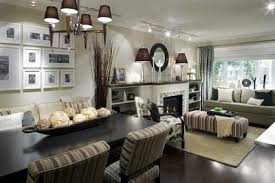 dining room khaki tone: fabric and upholstery take on the gray tones in this design by candice olson