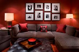 ideas living room well liked grey velvet l shape sectional living room couch with red faux bedroomformalbeauteous black white red