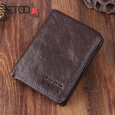 <b>AETOO Original retro handmade</b> leather short wallet leather men ...