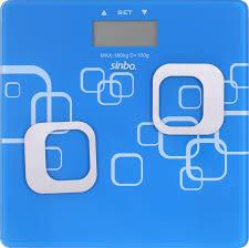 Напольные весы <b>Sinbo SBS 4448</b>, синий, <b>белый</b>