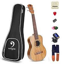 <b>Vangoa Soprano</b> Ukulele Zebra Wood UK-<b>21Z 21 inch</b> Acoustic ...