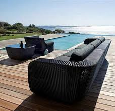 stylish rattan garden furniture sofa armchair table black garden furniture