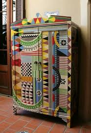 traditional cabinet richly decorated and brightly patterned colorful painted furniture double wardrobe dresser pattern interesting bright painted furniture
