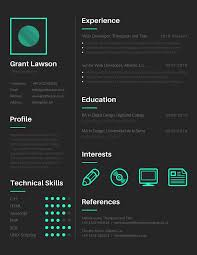 tools to create outstanding visual resume canva resume