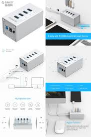 [Visit to Buy] <b>ORICO</b> 4 <b>Port</b> Aluminum <b>USB</b> 3.0 HUB with 12V2.5A ...