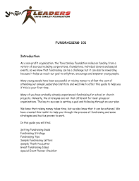 cover letter for fundraising template cover letter for fundraising