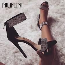 Luxury Crystal <b>High Heels</b> Sandals Sexy Bling Rhinestone Thin ...