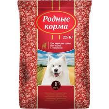 <b>РОДНЫЕ КОРМА</b> сухой <b>корм для взрослых</b> собак всех пород с ...