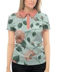 Рубашка Поло с полной запечаткой <b>Розочки</b> #2071115 от nadegda
