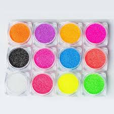 Meet Across <b>8 Boxes Neon Pigment</b> Nail Powder Dust Ombre Nail ...