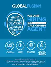 call center agent job hiring ph callcenter ad