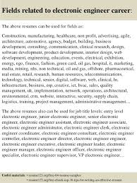 16 fields related to electronic engineer electronic engineer resume sample