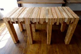 table for kitchen:  making a butcher block table
