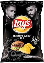 Купить Чипсы Lays <b>Black Star</b> Burger BBQ 140г с доставкой на ...