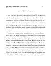 soccer and basketball english essay   studentshare high school essay