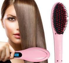 Fast <b>Hot Hair</b> Straightener Comb Brush LCD Screen Flat Iron Styling ...