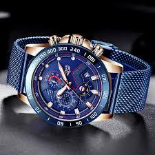 LIGE <b>Fashion Mens</b> Watches Top Brand Luxury WristWatch <b>Quartz</b> ...