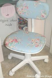 diy shabby chic office chair redo all you need is a cute floral fabric chic vintage home office desk cute